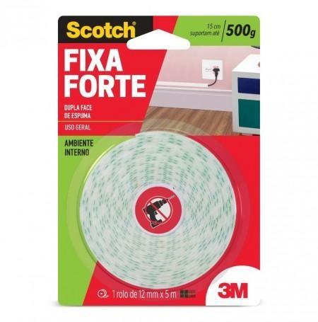 FITA FIXA FORTE 12MM X 5M C/ ESPUMA 3M