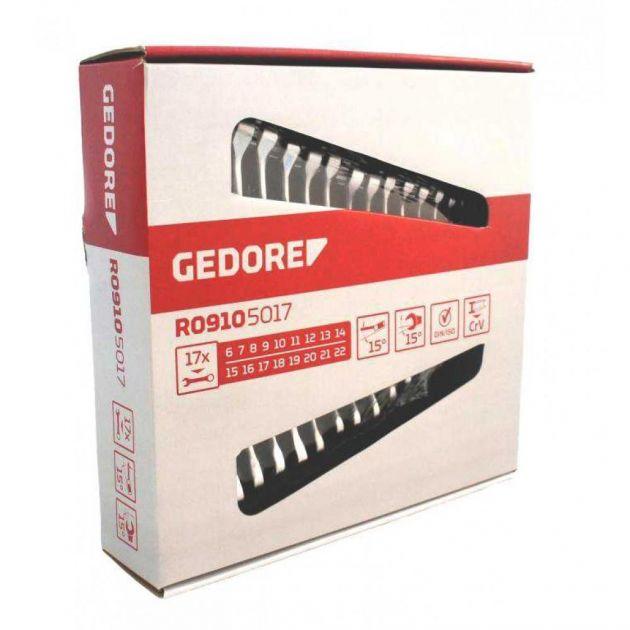 JOGO CHAVE COMBINADA 6-22 MM COM 17 PEÇAS REF- R09105017 GEDORE RED