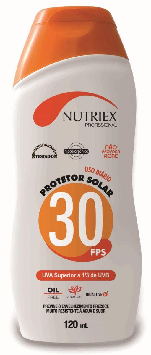 PROTETOR SOLAR FPS 30 1/3 UVA 120ML NUTRIEX